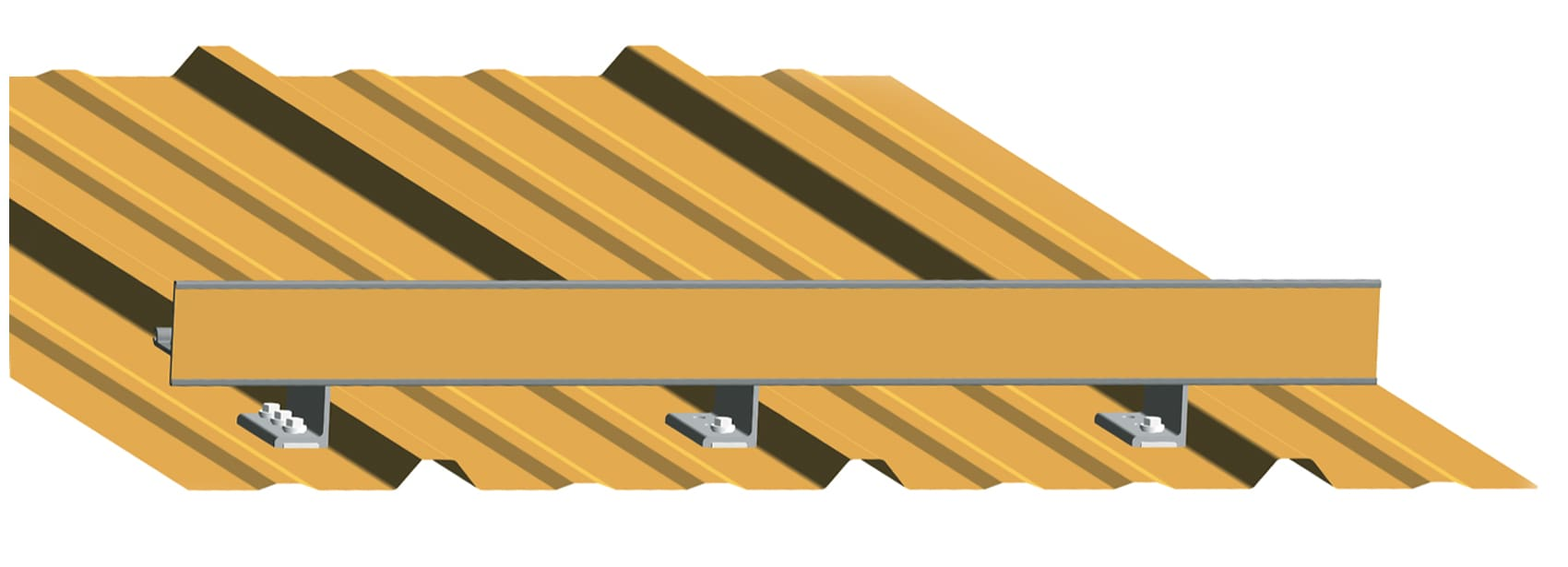 Exposed fastened VersaBracket with ColorGard - All American Steel